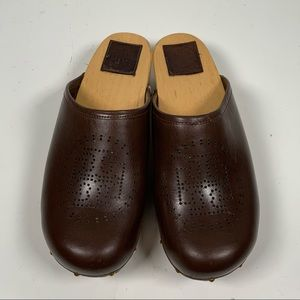 Tory Burch - Brown leather Clogs